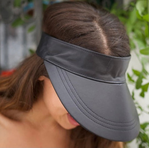 Shady Leather Visor- black