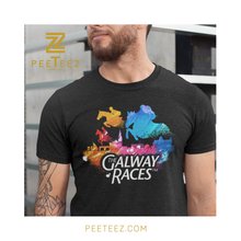 Load image into Gallery viewer, Horses over Galway Skyline Graffiti Short Sleeve Teeshirt