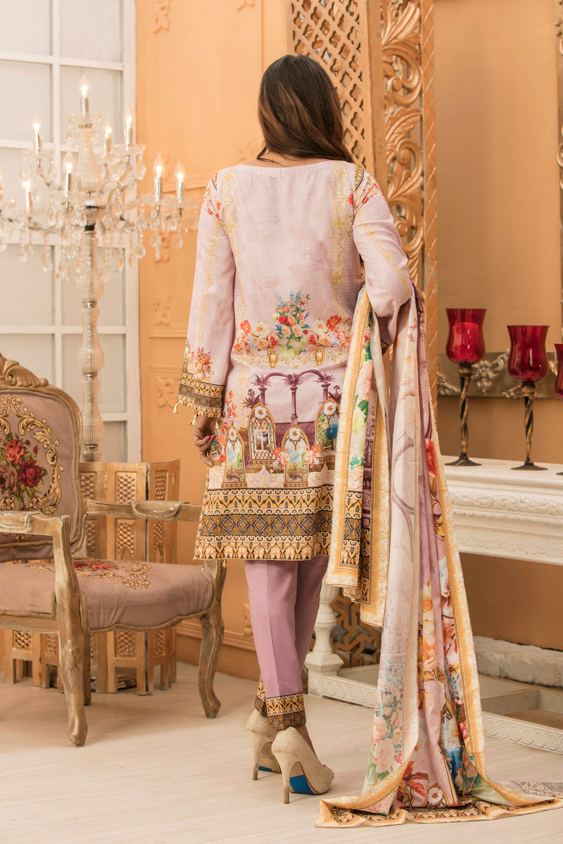 Zynah Premium Satin Lawn Collection ZS-06A