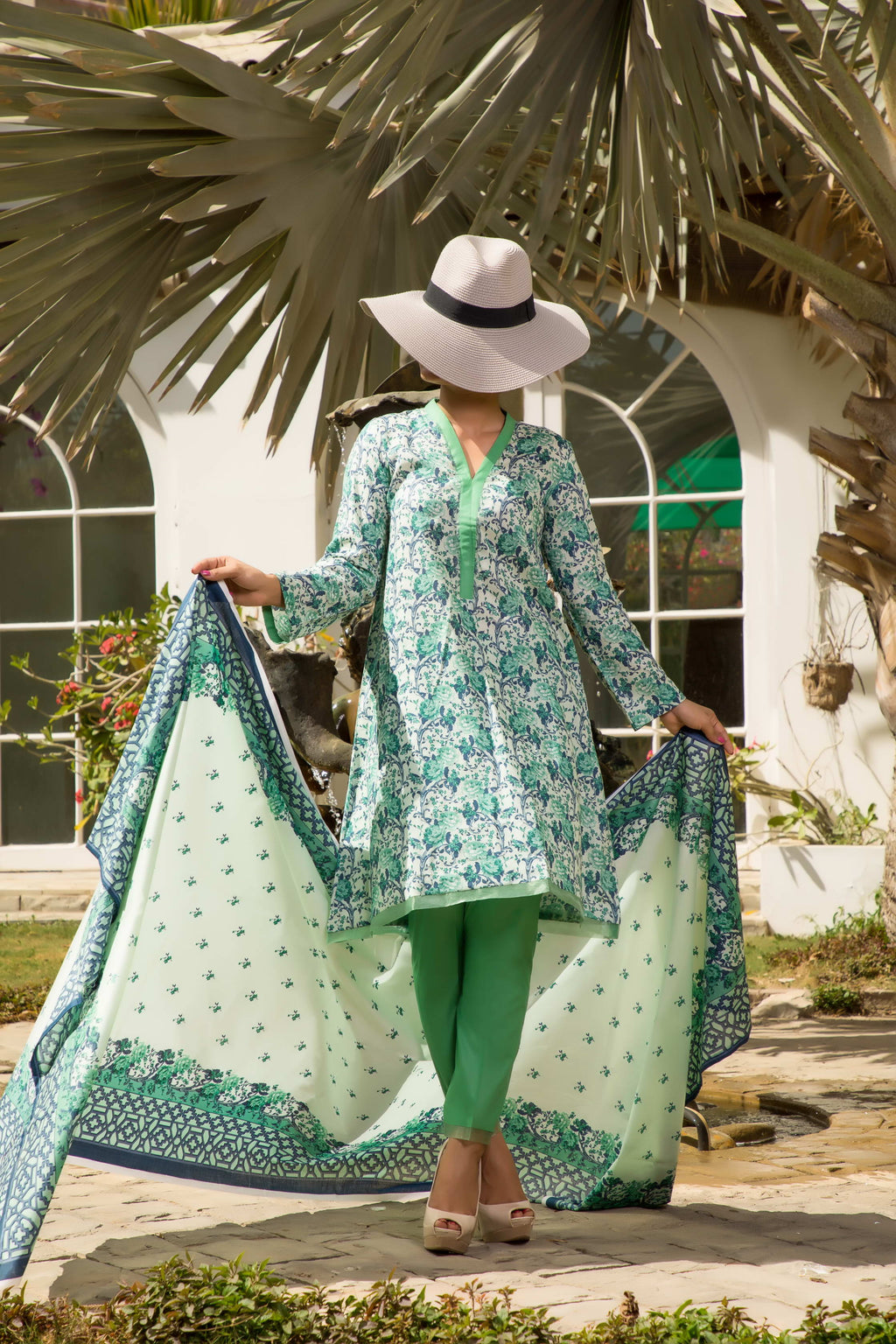 Unstitched Two Piece Shirt & Dupatta SSL-192-01A