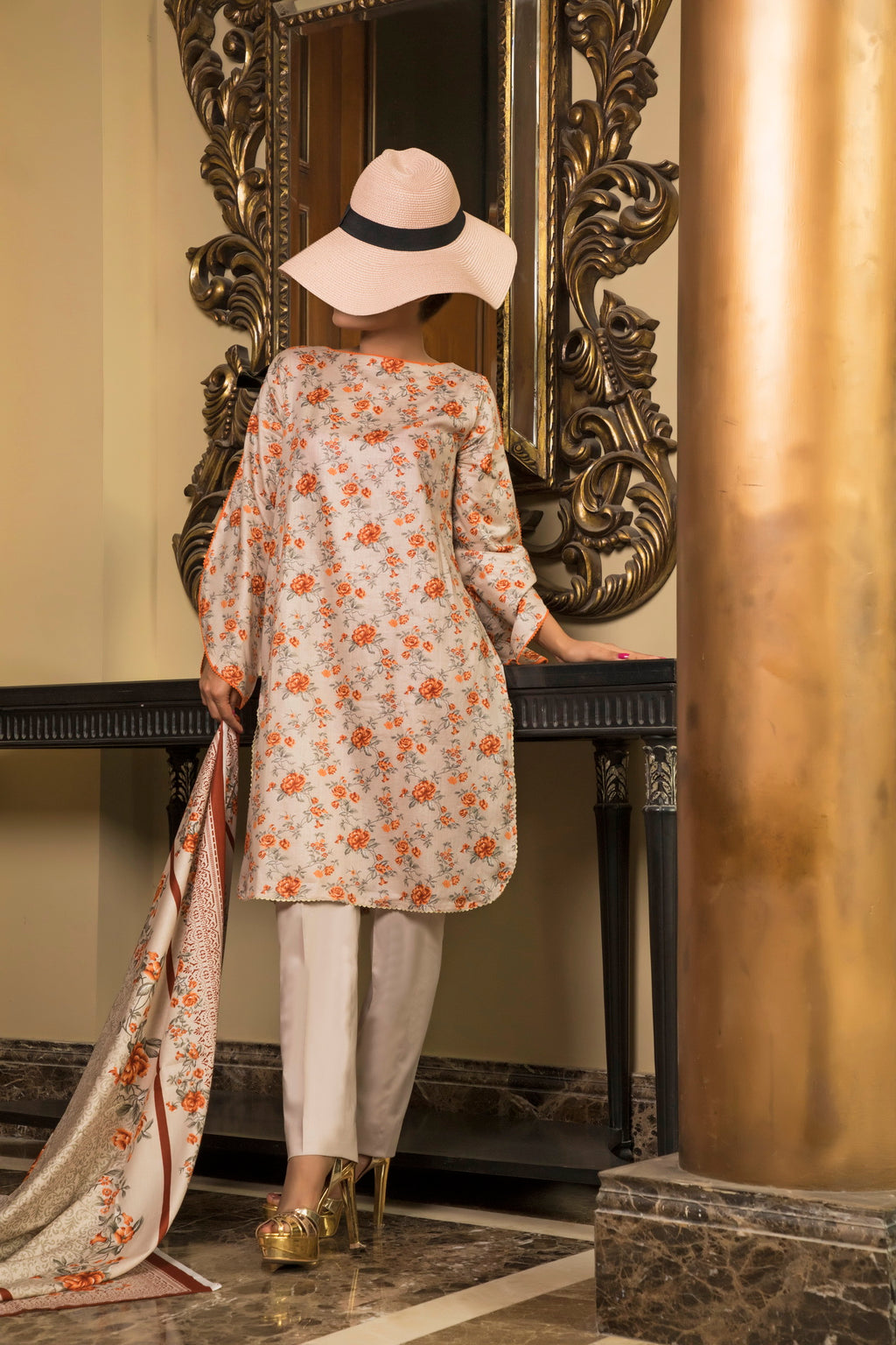 Unstitched Two Piece Shirt & Dupatta SSL-191-03B