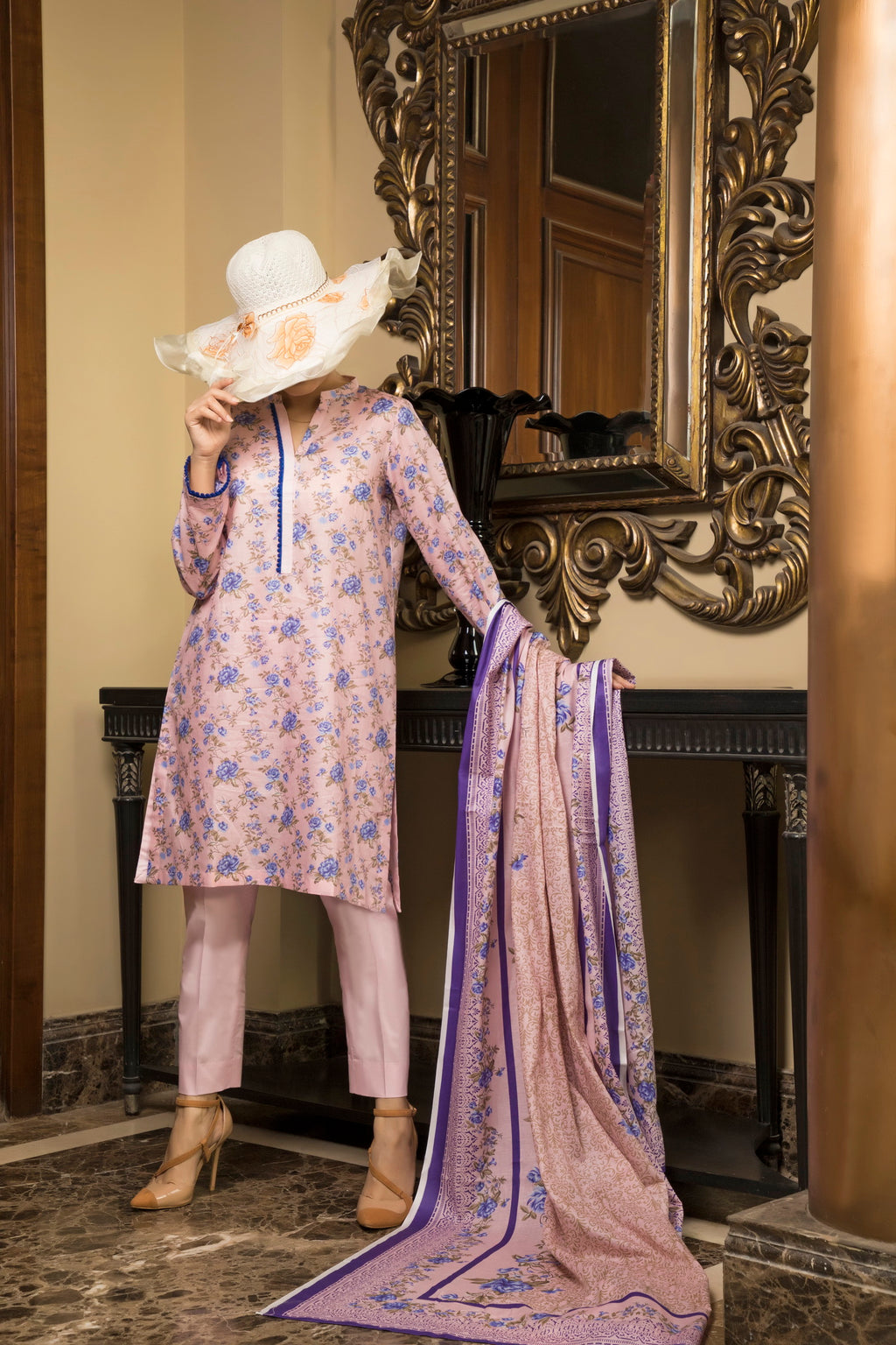 Unstitched Two Piece Shirt & Dupatta SSL-191-03A