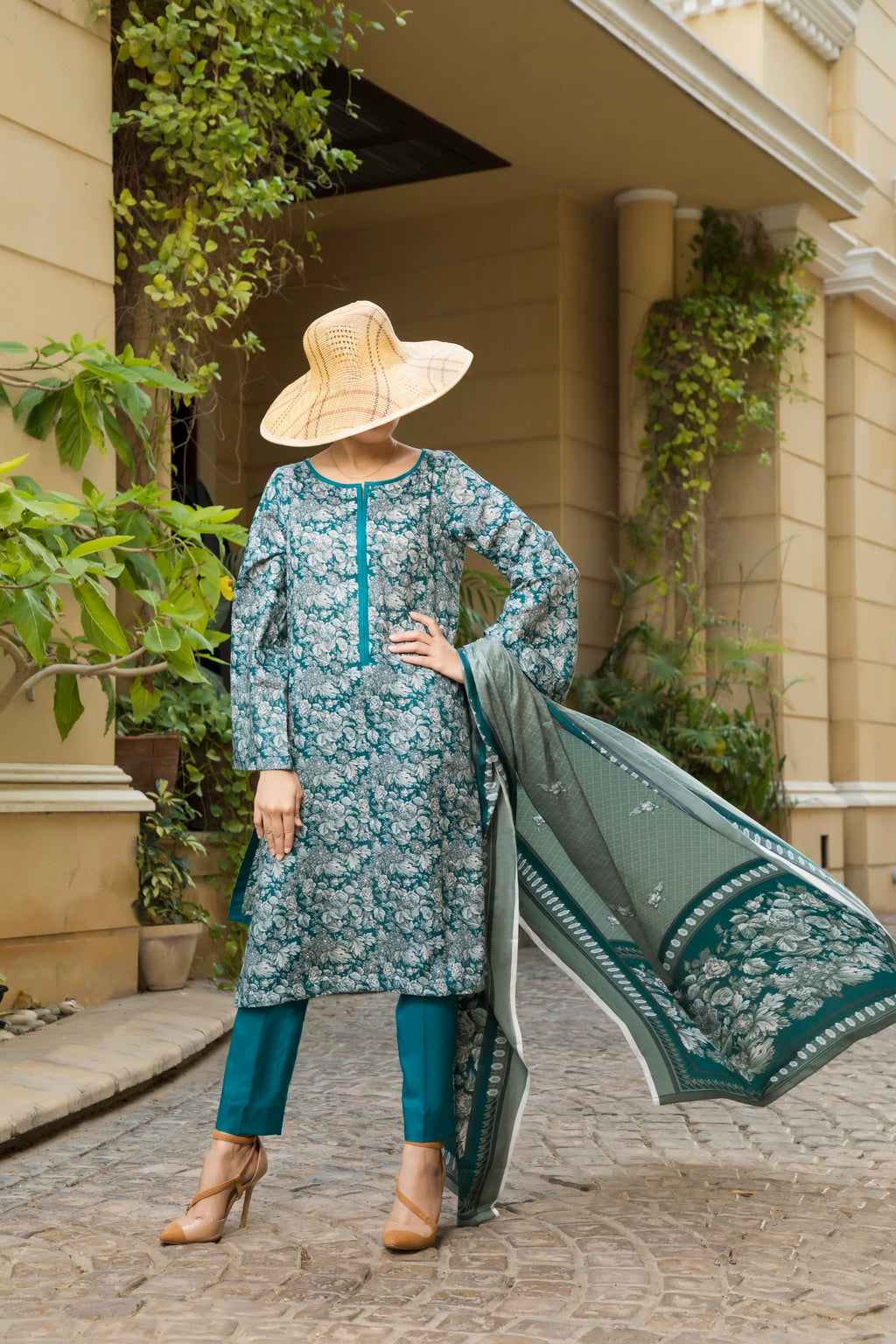 Unstitched Two Piece Shirt & Dupatta SSL-191-09A