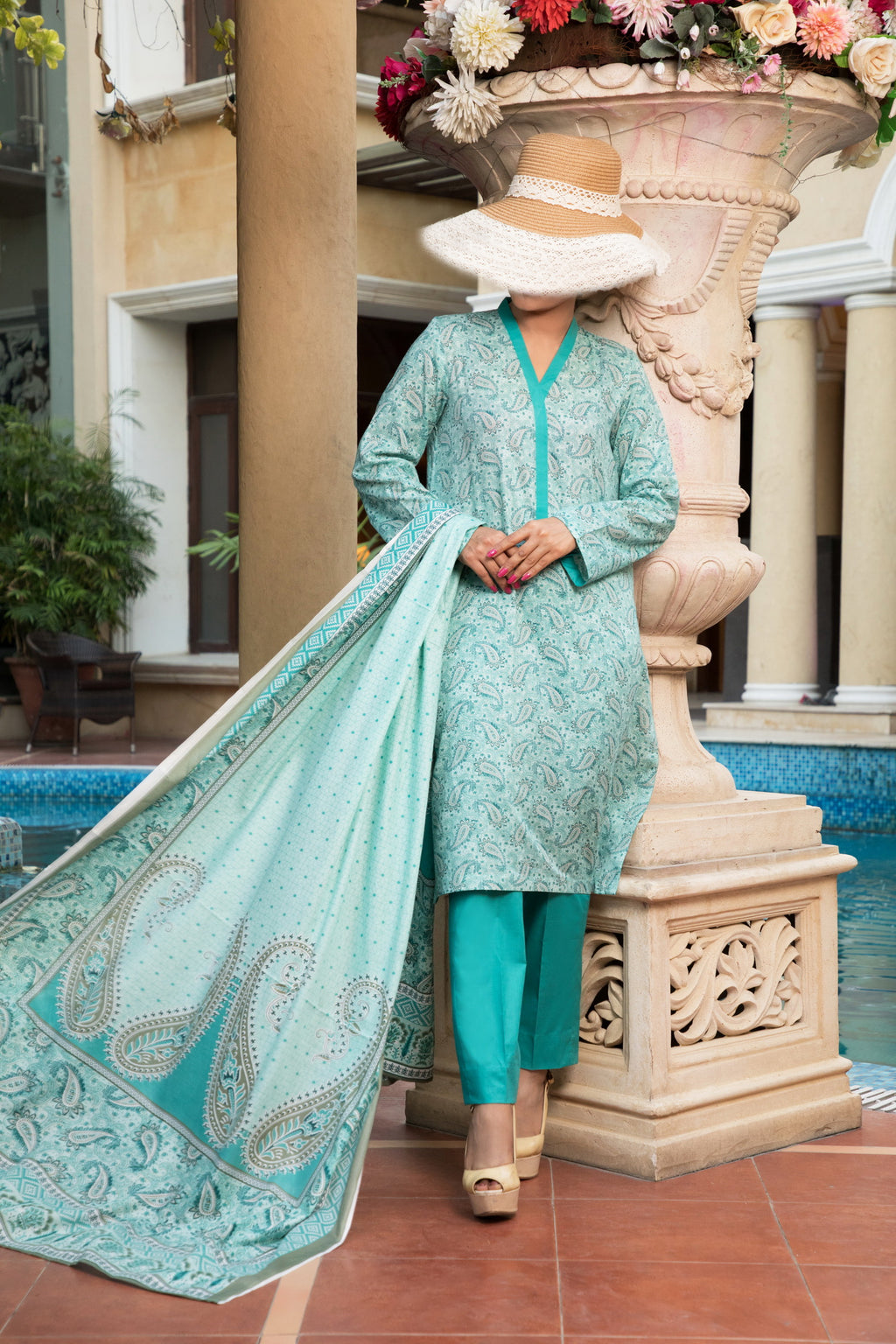 Unstitched Two Piece Shirt & Dupatta SSL-191-11B