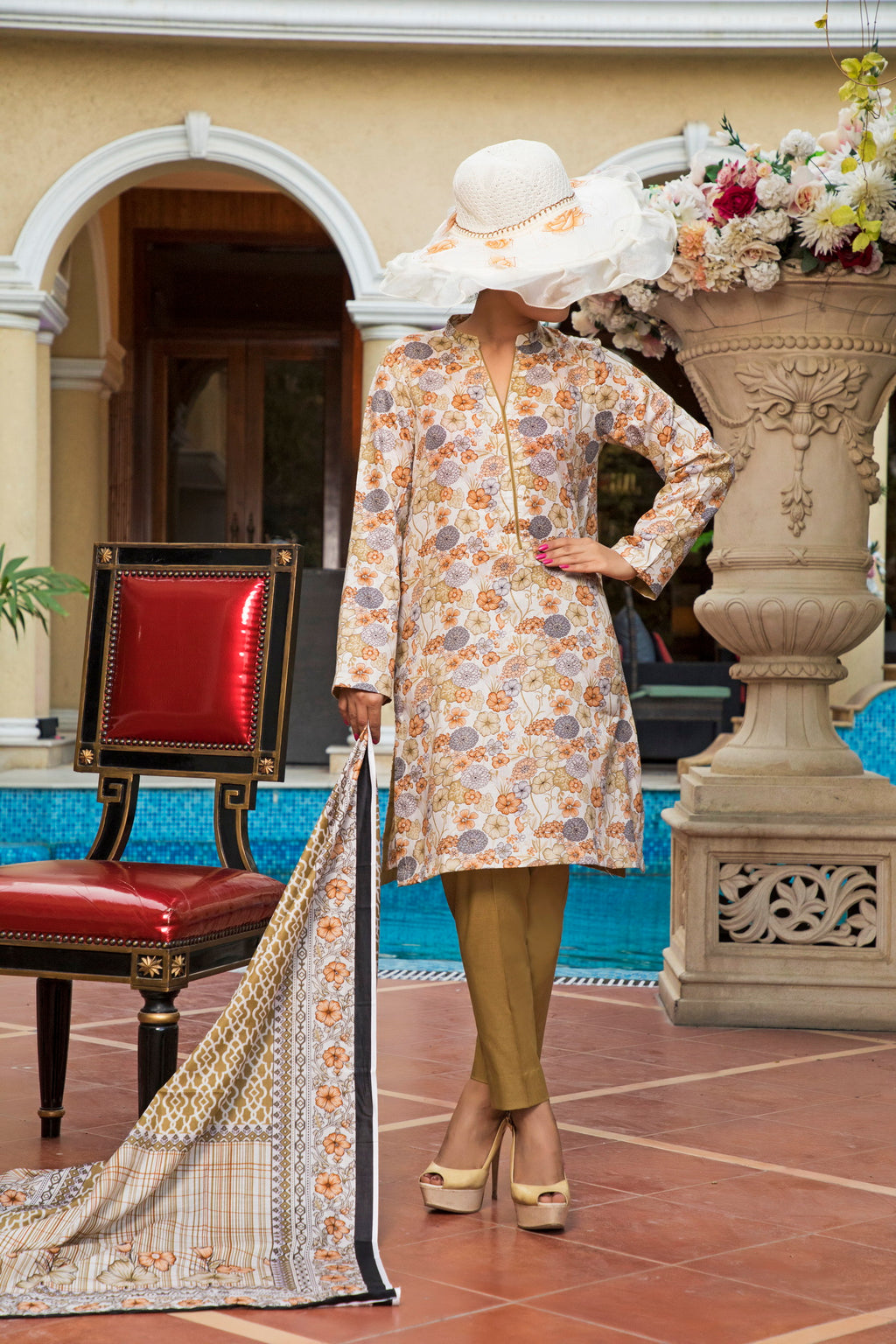 Unstitched Two Piece Shirt & Dupatta SSL-191-04B