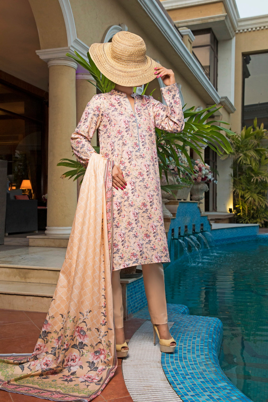 Unstitched Two Piece Shirt & Dupatta SSL-191-07A