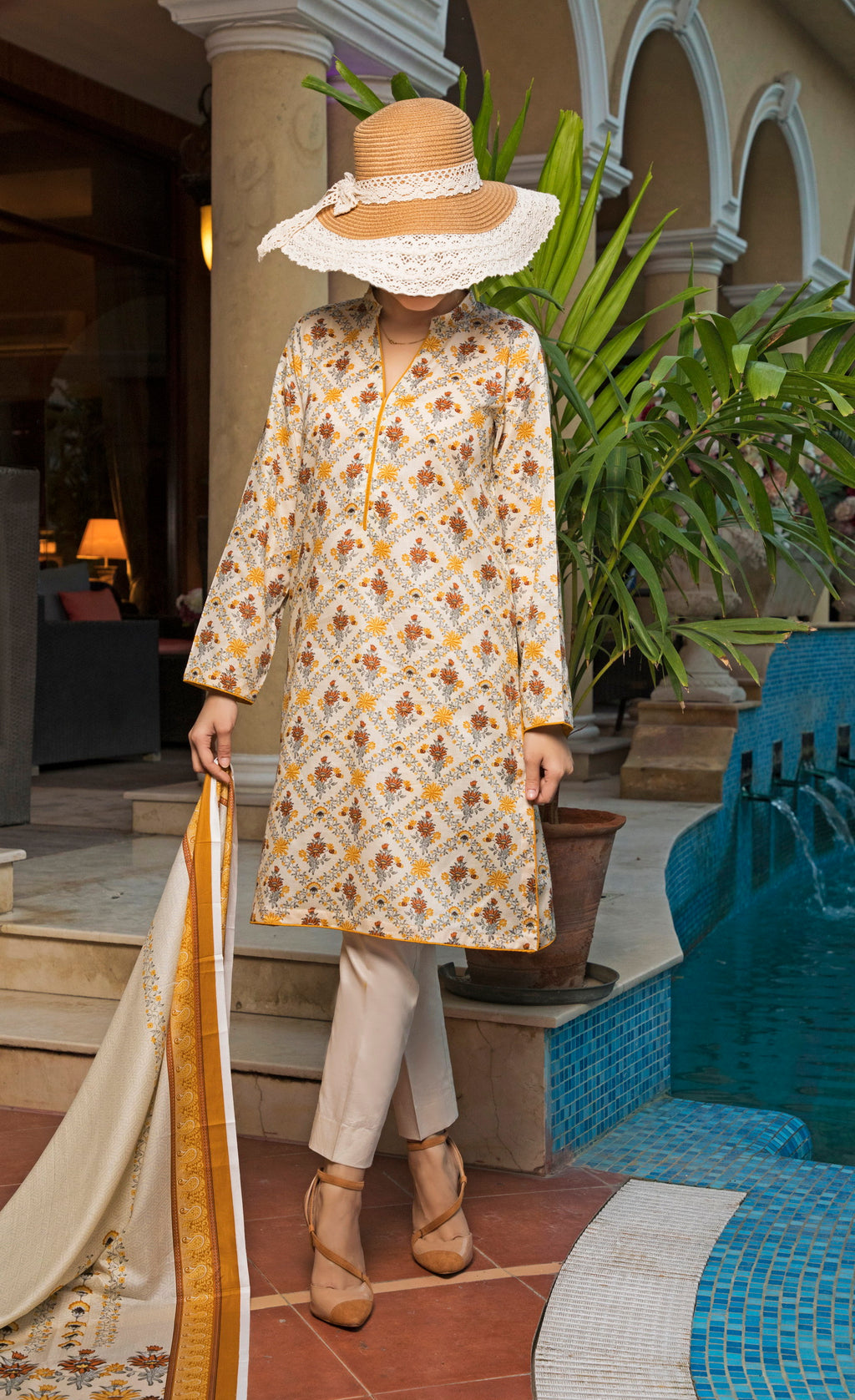 Unstitched Two Piece Shirt & Dupatta SSL-191-14A