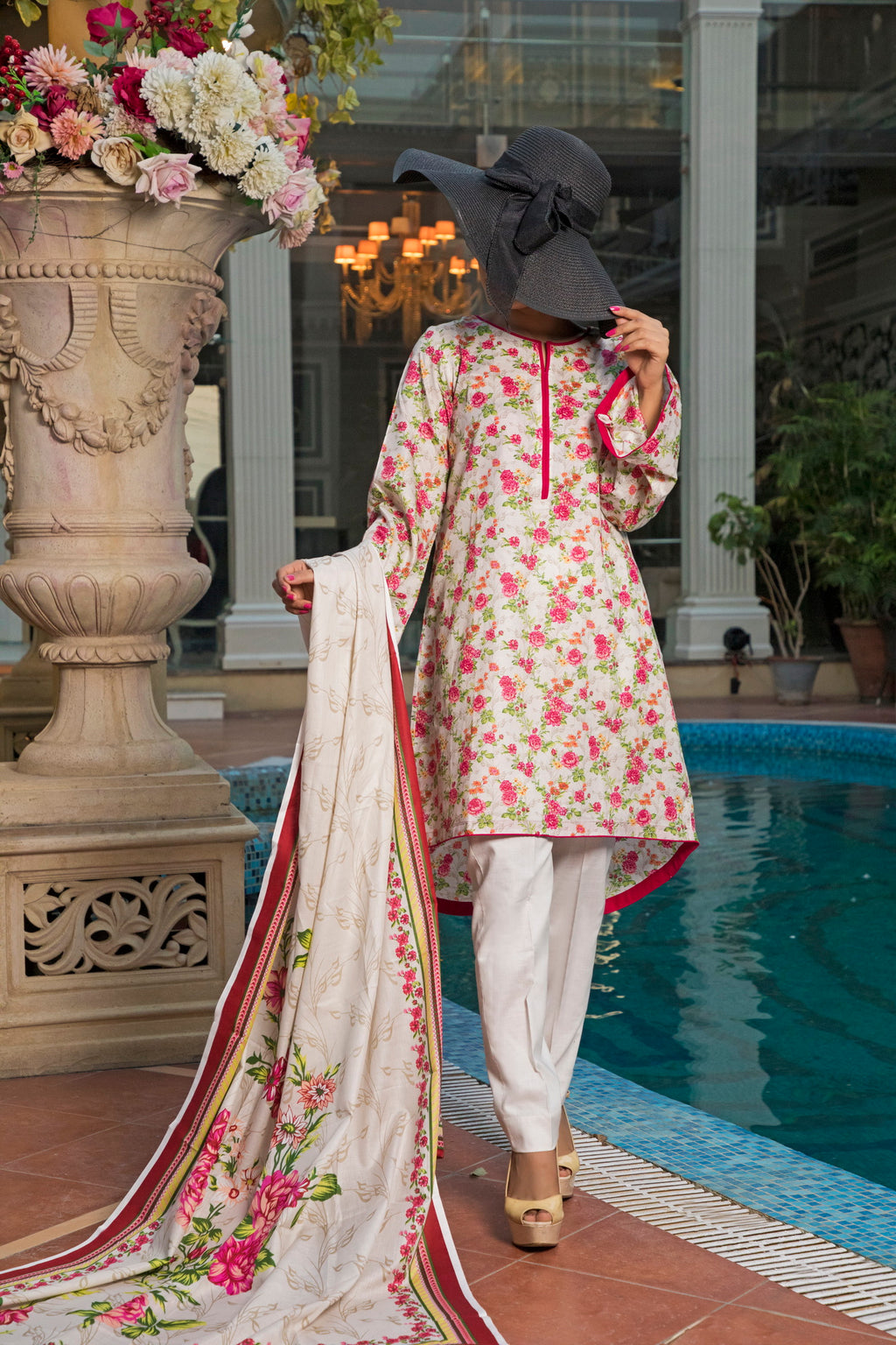 Unstitched Two Piece Shirt & Dupatta SSL-191-05A