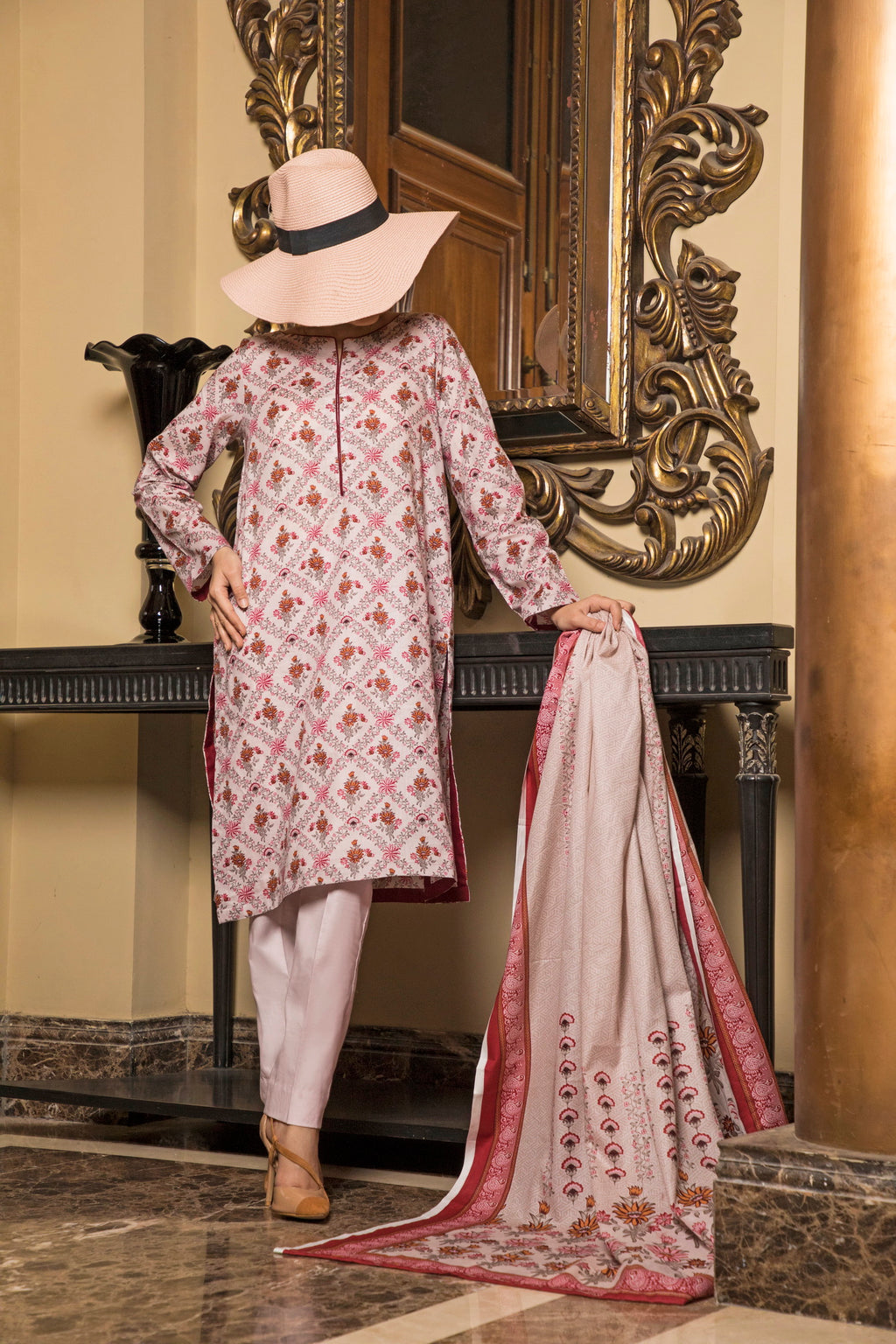 Unstitched Two Piece Shirt & Dupatta SSL-191-14B