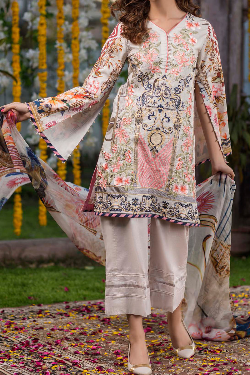 Shahkar Luxury Embroidered Lawn SHL-02