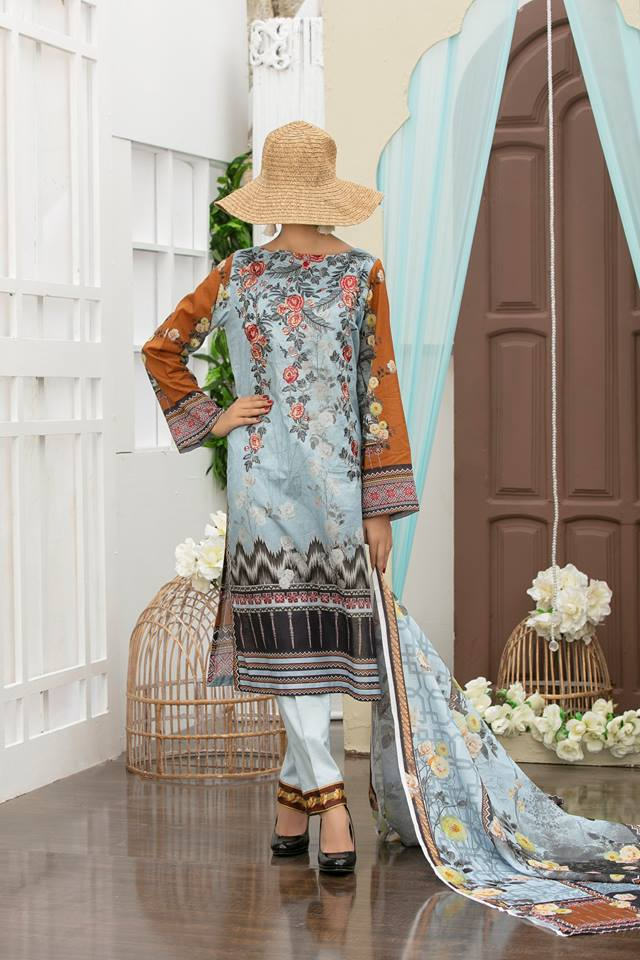 Shahkar Luxury Embroidered Lawn SHL-09