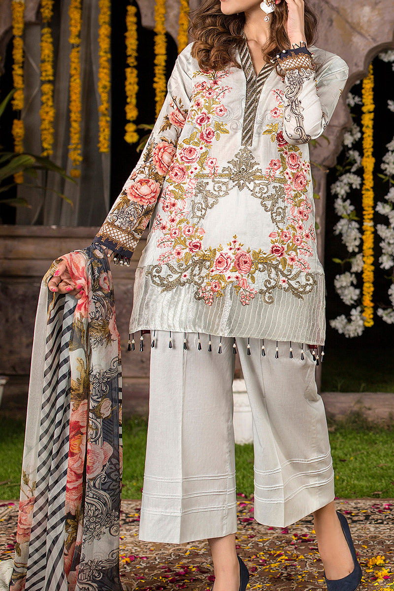 Shahkar Luxury Embroidered Lawn SHL-06
