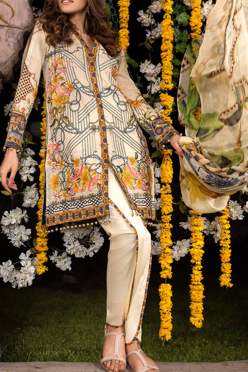 Shahkar Luxury Embroidered Lawn SHL-07