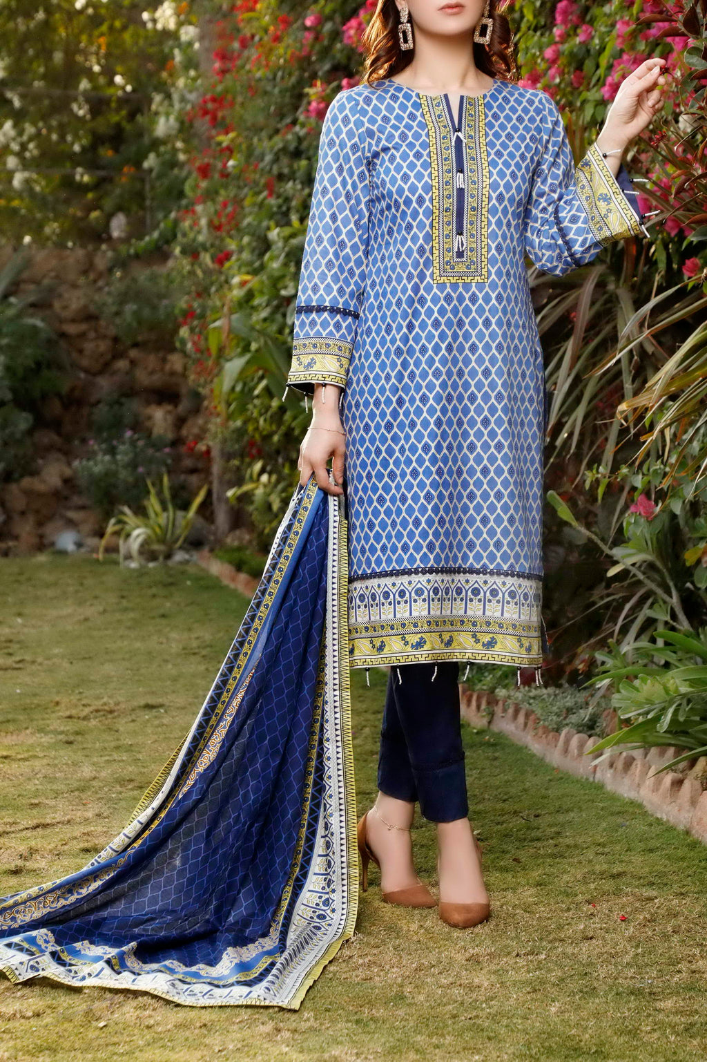 Daman Printed Lawn Collection 21-1318A