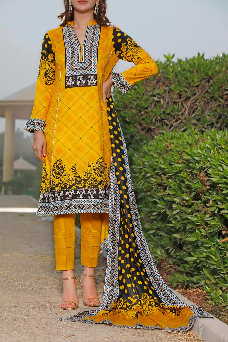 Classic Printed Lawn Col 21-128A