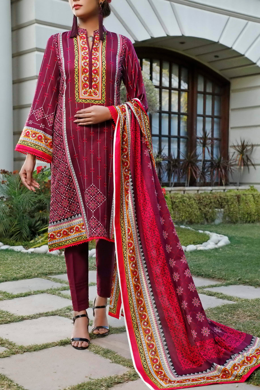 Daman Printed Lawn Collection 20-16B