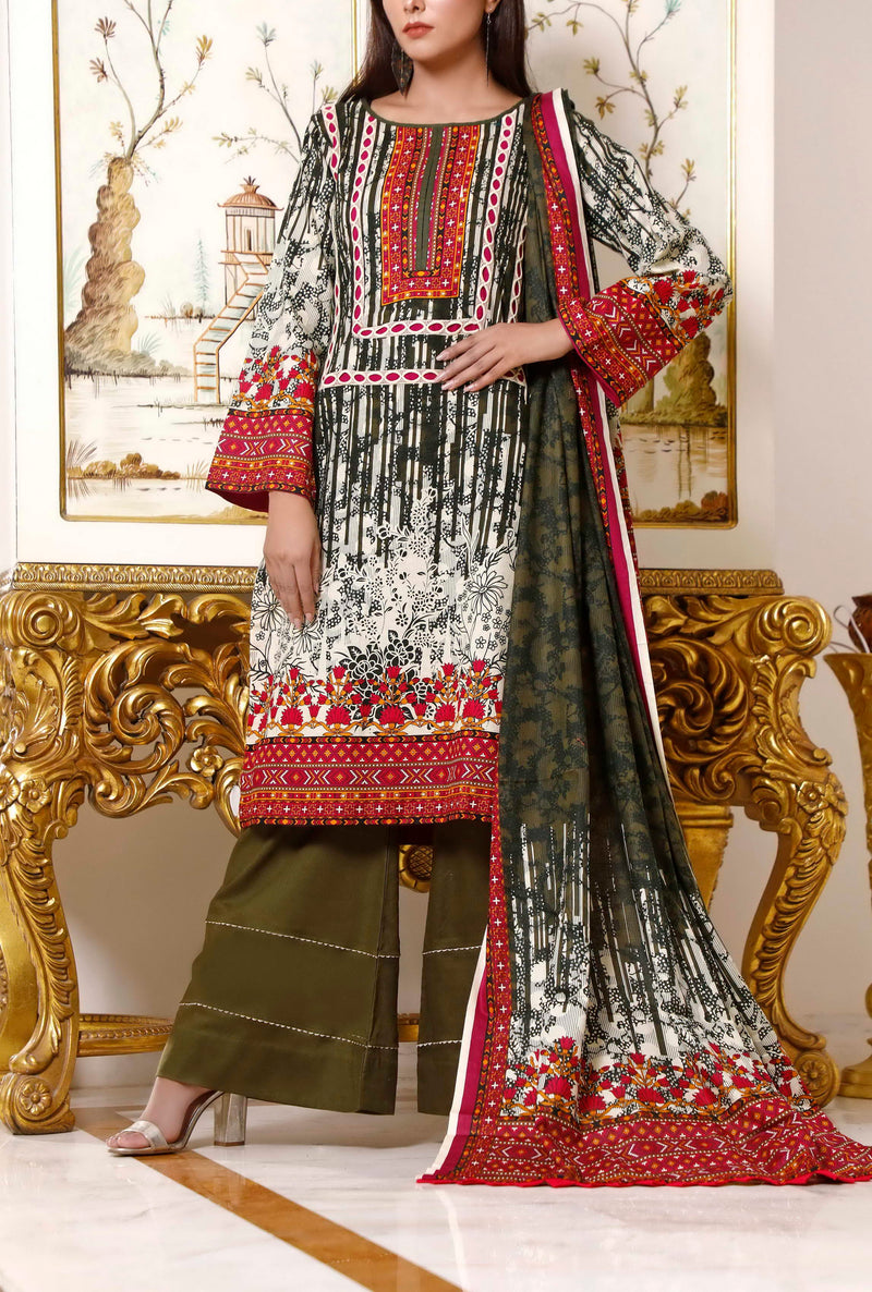 Two Piece Shirt and Dupatta D-1218B