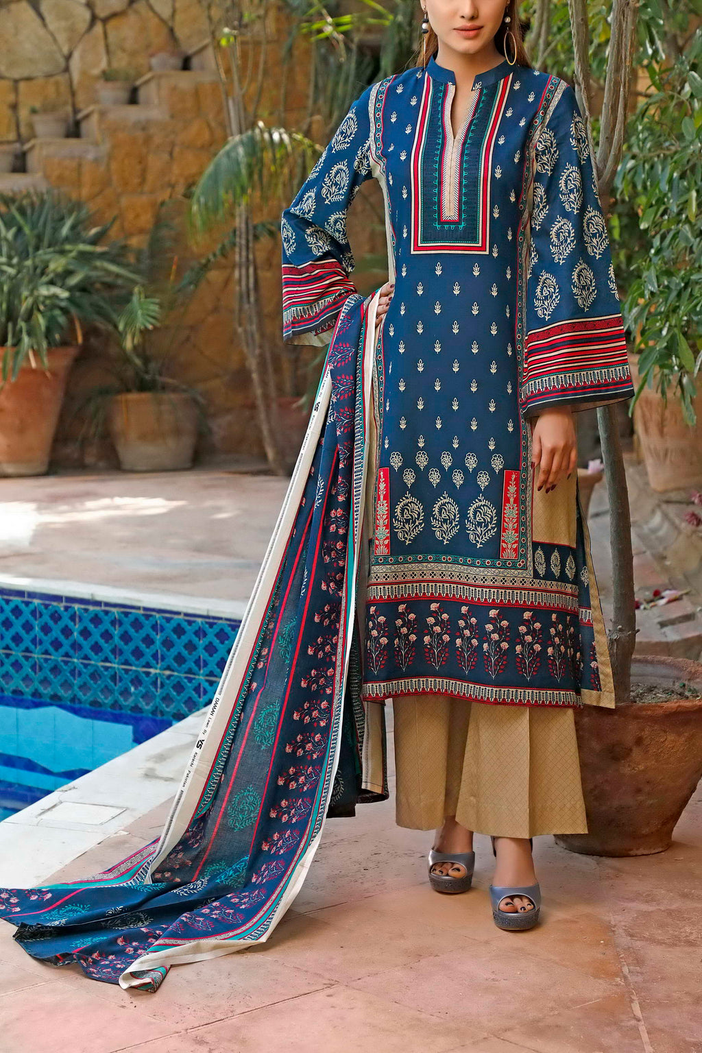 Daman Printed Lawn Collection 20-15A(Restocked)