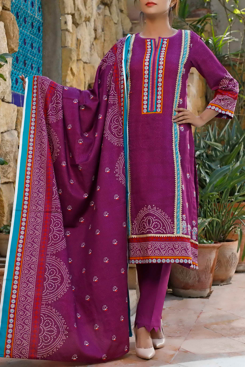 Daman Printed Lawn Collection 20-08A