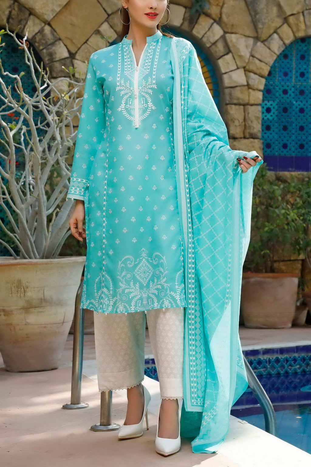 Daman Printed Lawn Collection 20-19B