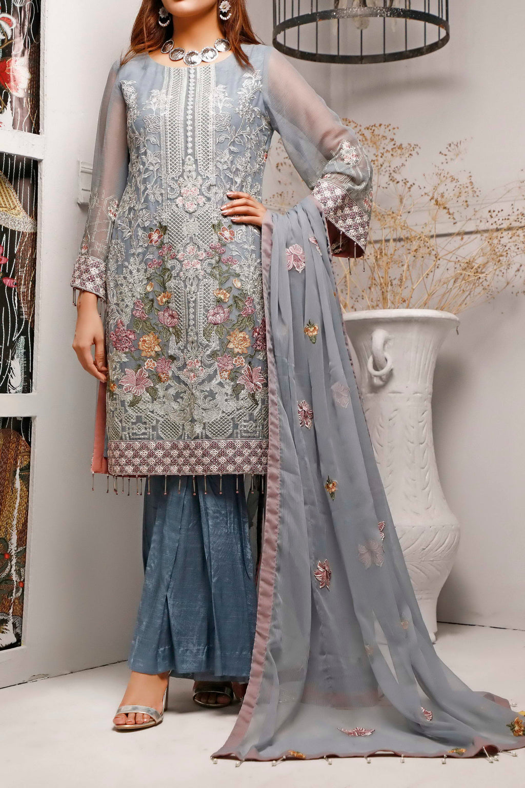 Sophia & Emaan Chiffon Collection D-04