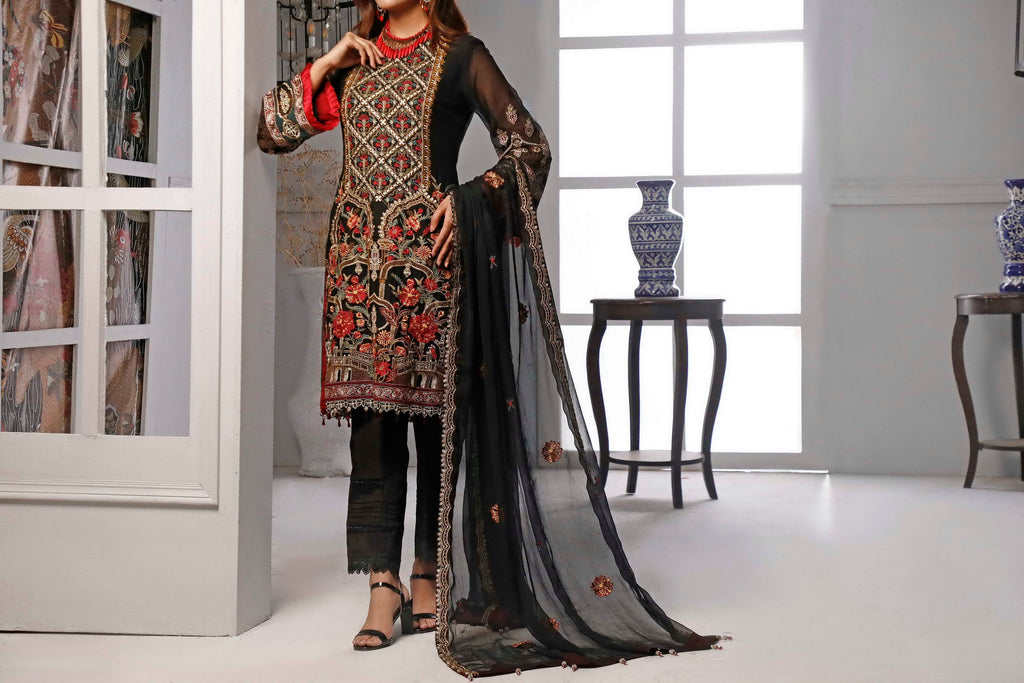 Sophia & Emaan Chiffon Collection D-01
