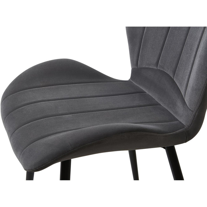 Chaise 58210GA - PRADO Gris - Lot de 2