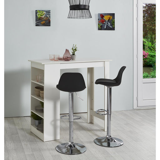 Tabouret de bar 22633NO - EVA Noir - Lot de 2
