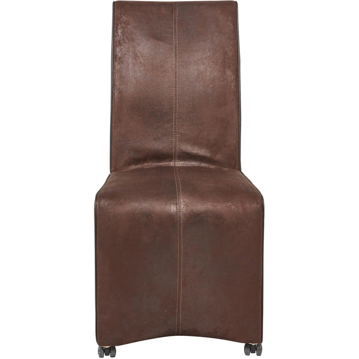 Chaise 55235MA - LAS VEGAS Marron - Lot de 2
