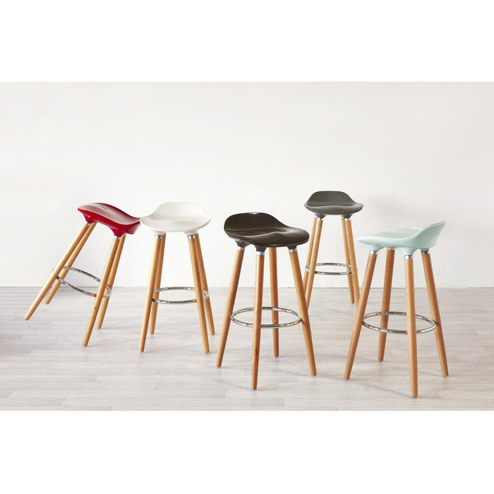 Tabouret de bar 47765NO - OSLO Noir - Lot de 1