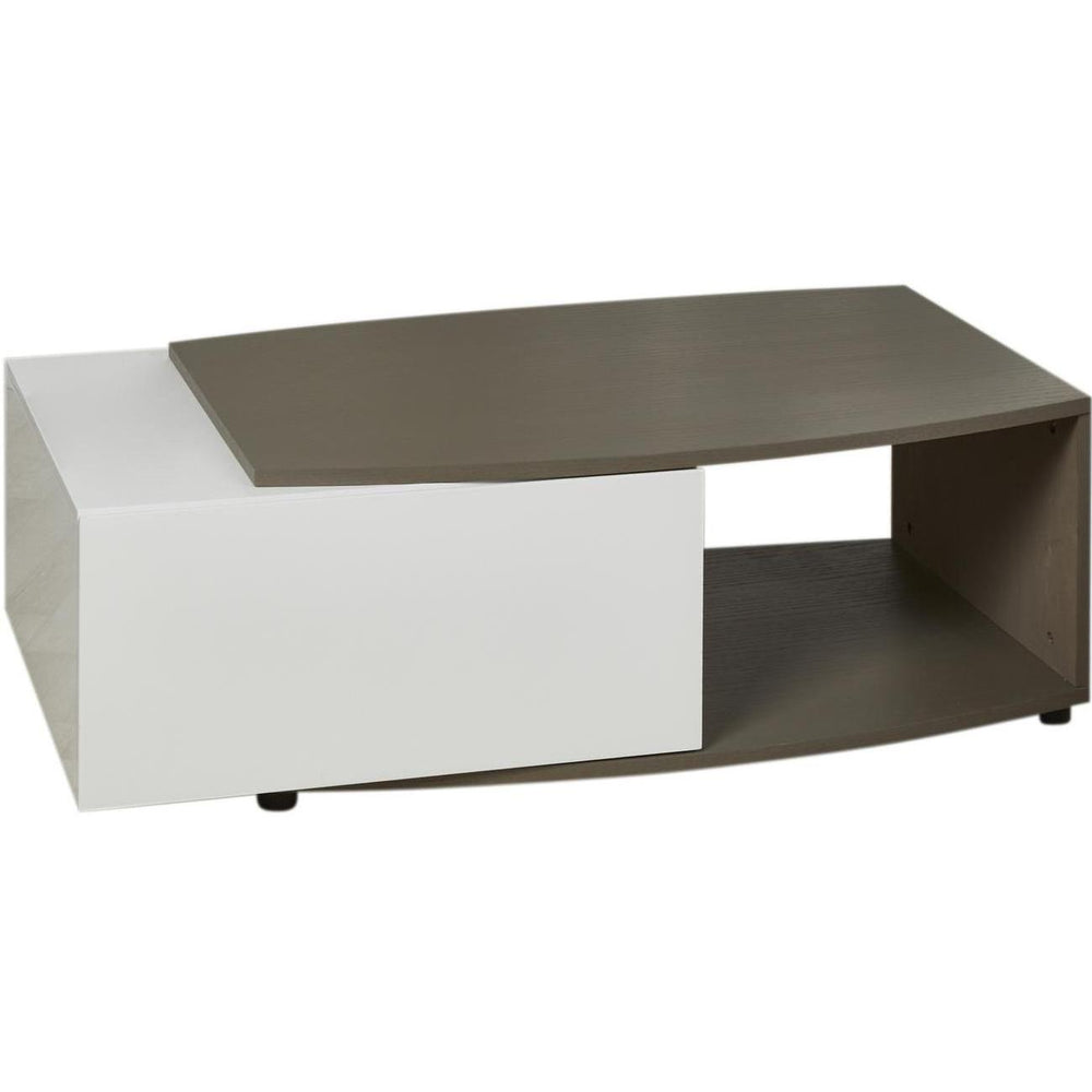Table basse 10274TB - Pacific Taupe et blanc