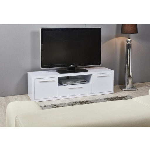 Meuble TV 29401BL - YARDEN Blanc - Lot de 1
