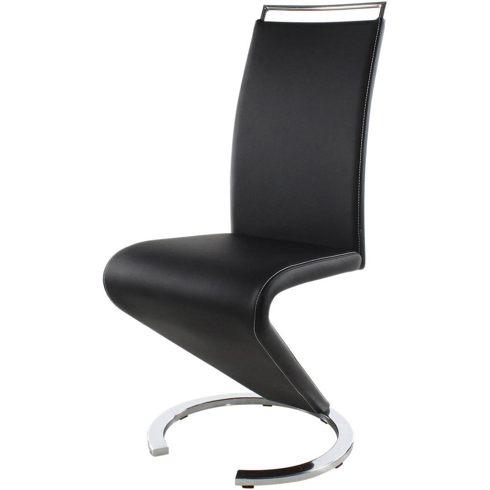 Chaise 14260NO - SIDNEY Noir - Lot de 2
