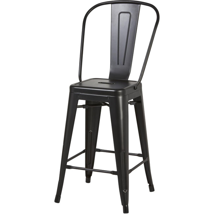 Tabouret de bar 70105NO - MECANO Noir - Lot de 2