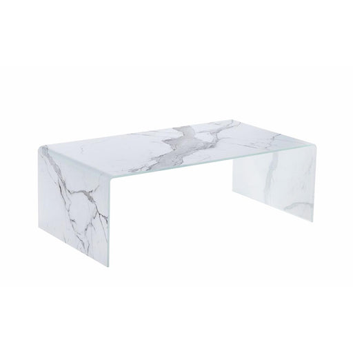 Table basse 30420BL - MARBLE Blanc - Lot de 1