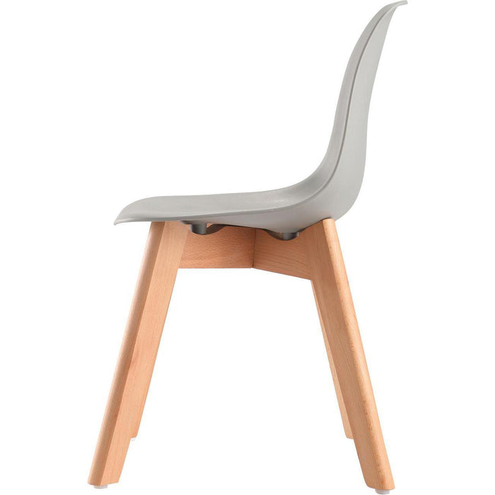 Chaise enfant 16186GR - SACHA KIDS Gris - Lot de 1