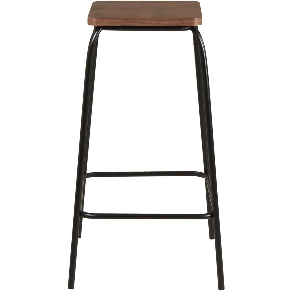 Tabouret de bar 42709NO - DOCKS Noir - Lot de 2