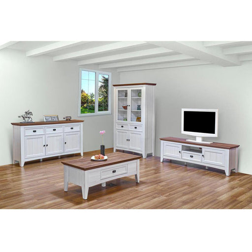 Meuble TV 29106BC - GLENVILLE Beige - Lot de 1