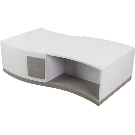 Table basse 10154BG - FLEX Gris & Blanc - Lot de 1