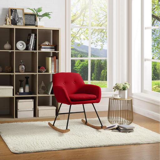 Rocking chair 61120RO - JENS Rouge - Lot de 1