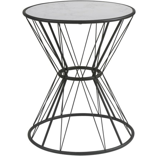 Table d'appoint 13501NO - MARBELOUS Noir & Blanc - Lot de 1
