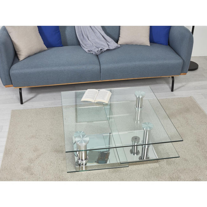 Table basse 28613CR - BURBANE Gris - Lot de 1