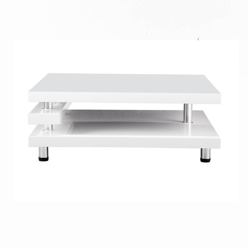 Table basse 13912BL - RENATO Blanc - Lot de 1