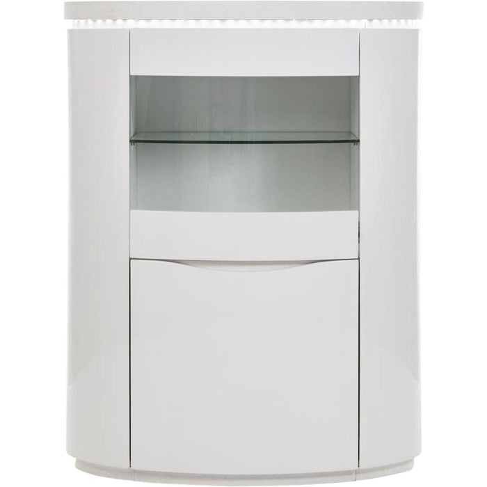 Vitrine 10565BL - ELLIPSE Blanc - Lot de 1