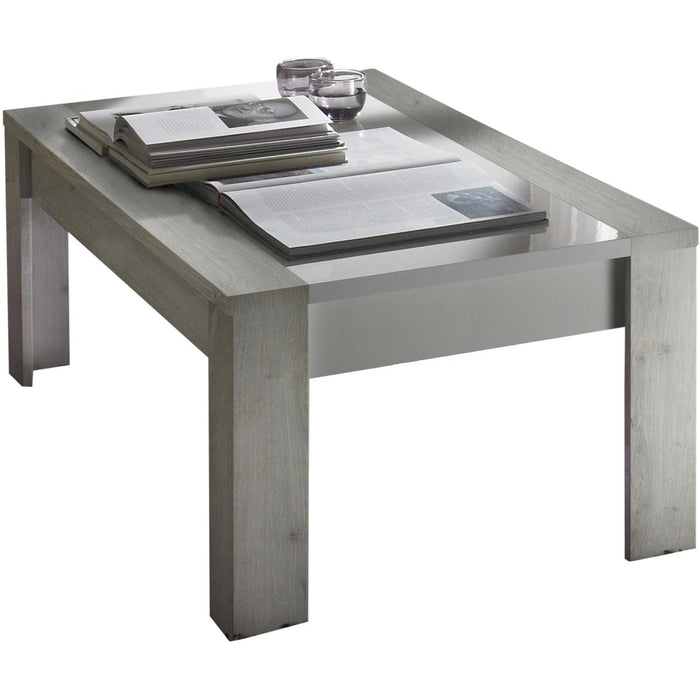 Table basse 12604BC - SATURNE Gris & Blanc - Lot de 1