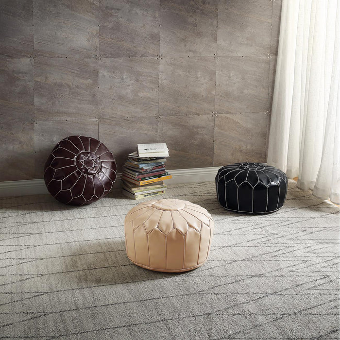 Pouf 13838NO - FESA Noir - Lot de 1