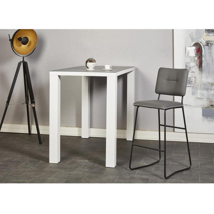 Tabouret de bar 50322GR - TOVA Gris - Lot de 2