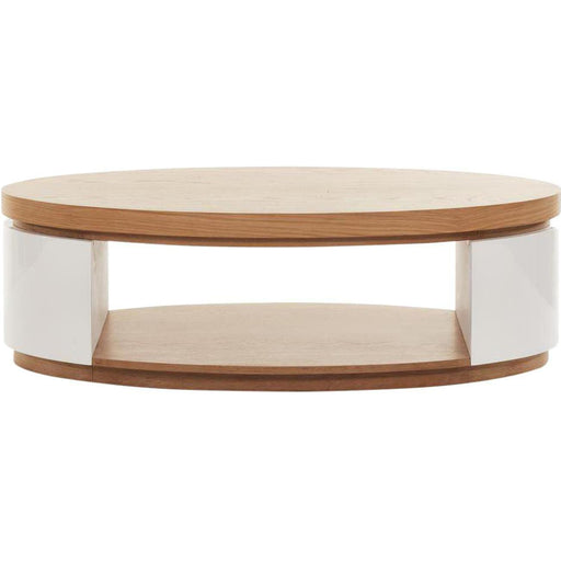 Table basse 10564CE - ELLIPSE Beige & Blanc - Lot de 1