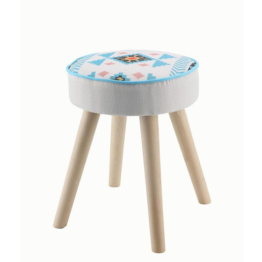 Chaise 13808M1 - Paco Blanc et Turquoise