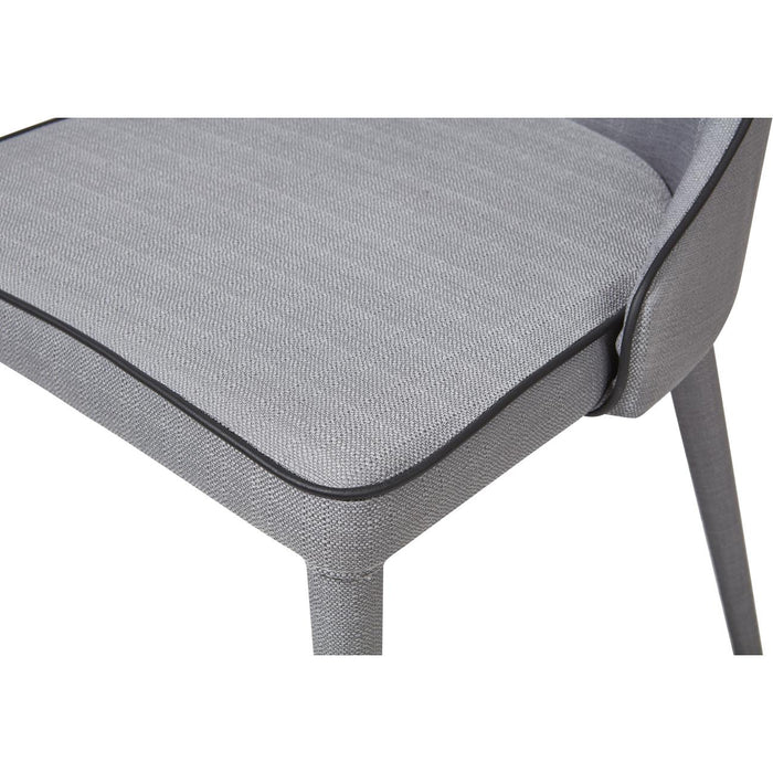 Chaise 30157TA - STELLA Gris - Lot de 2